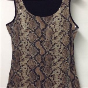 Beautiful sequined stretch tank top